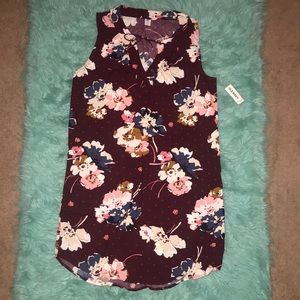 NWT Old Navy floral sleeveless mini dress   size M